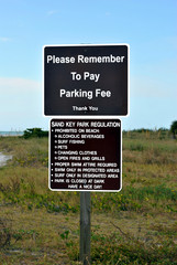 Sand Key Park Regulation sign