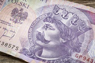 Polish medieval king on banknote
