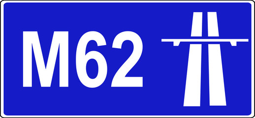 Start of motorway regulations sign