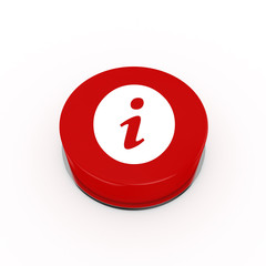 3d Information Web Button - isolated