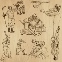 Sport collection no.13 - hand drawn illustrations