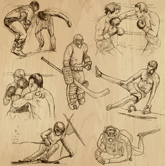 Sport collection no.14 - hand drawn illustrations