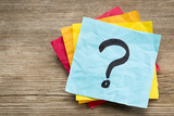 question mark on sticky note poster