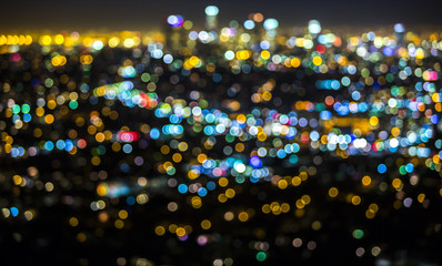 Bokeh light from Los Angeles