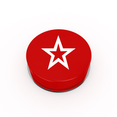 3d Star Web Button - isolated