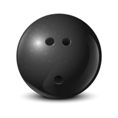 Bowling ball with texture isolated on white background