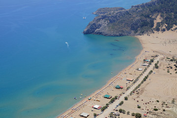 Strand von Tsambika auf der Insel rhodos