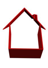 ayrılan kırmızı ev