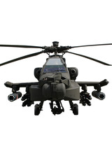 Attack helicopter isolated