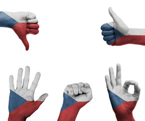 Hand set with the flag of Czech Republic