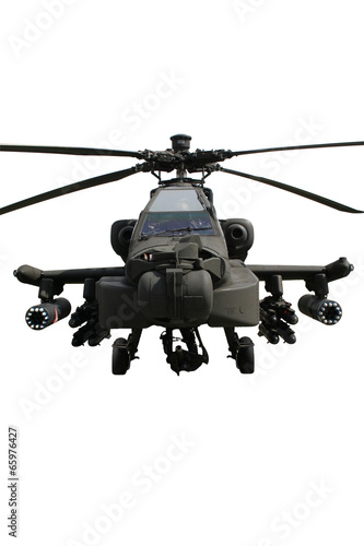 Attack helicopter isolated - 65976427