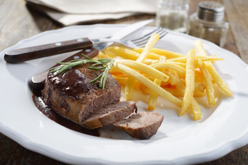 Steak with potato