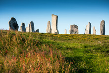 "Постер, картина, фотообои ""standing stones at callinish on the island lewis, scotland, UK"""