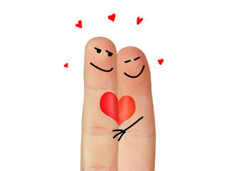 Love symbolized with two fingers