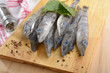 Raw ice fish