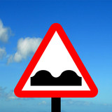 Warning triangle Uneven road poster