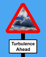 Warning Turbulence ahead sign