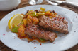 Adana kofte with vegetables