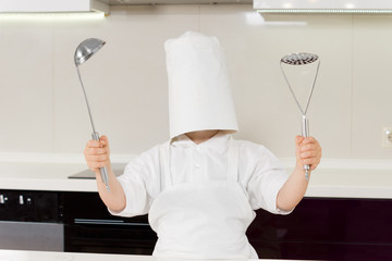 Young would be chef clowning around