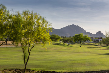 Scottsdale Greenbelt Park and Camelback Mountain