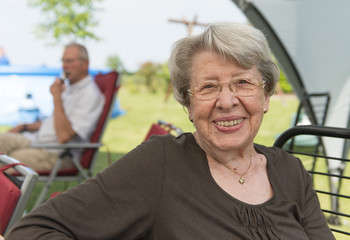 Senior Woman Outdoors in the Summer