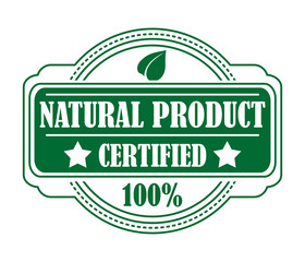 Green colored natural product label