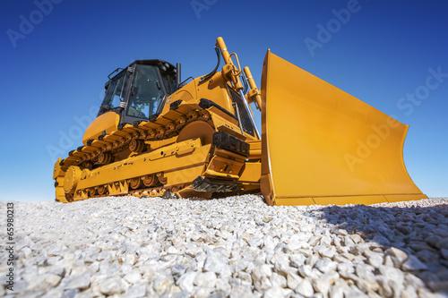 Leinwanddruck Bild Heavy Bulldozer