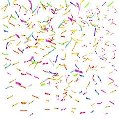 festive colored background with confetti