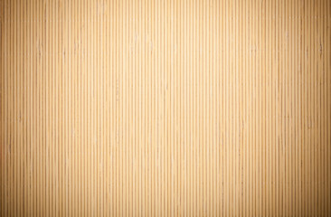 Beige brown bamboo mat striped background texture pattern