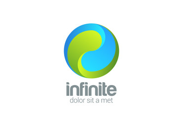 Sphere Circle looped infinity vector logo design