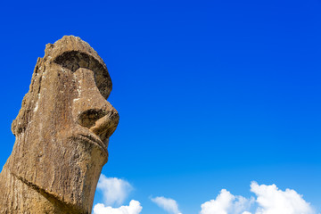 Moai and Blue Sky
