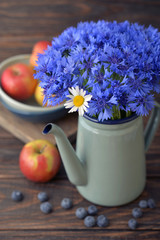 Cornflowers with camomile