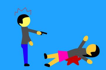 woman killed by a man