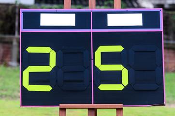 picture of football scoreboard.