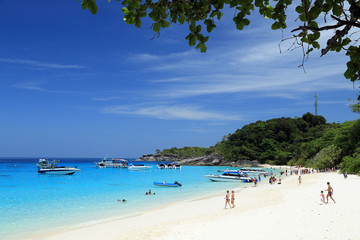 The beach of Similan Islands