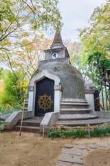 """Chedi""  at the great Buddha hill in Ueno Park"