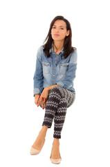 hispanic woman sitting