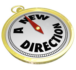 A New Direction Words Gold Compass Choose Change Career Path