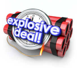 Explosive Deals Bomb Dynamite Special Sale Clearance Price