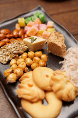 Oriental sweets on plate