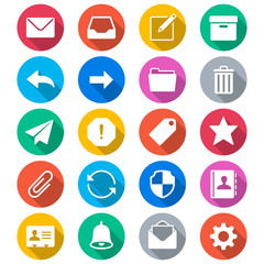 Email flat color icons