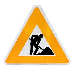 signalisation temporaire : travaux sur la voie