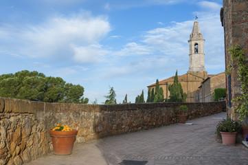 Church in Pienza, Tuscany, Italy.