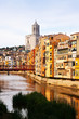 Day view of Girona. Catalonia