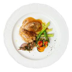Rabbit stew with vegetables