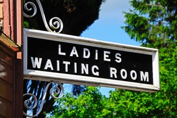 Ladies Waiting Room sign © Arena Photo UK