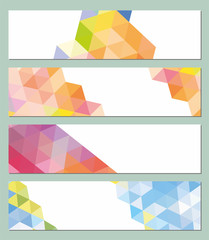 horizontal vector mosaic background
