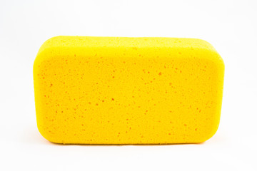 Yellow sponge isolated
