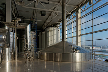 Beer-brewing tanks