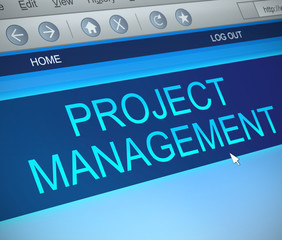 Project management concept.